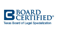 board certified family lawyer by the Texas Board of Legal Specialization